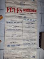 BRAINE LE COMTE    PROGRAMME DES FÊTES  1908    2 Mètres 10 X1 Mètre 10 - Manifesti