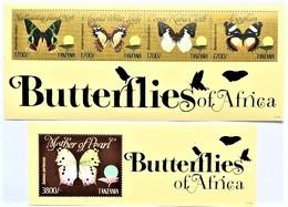 # Tanzania 2011**Mi.4877-80 + Bl.651  Butterflies , MNH [1;82] - Schmetterlinge