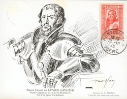 Pierre Terrail De BAYARD (1473-1524)  Dessin De R. SERRES D'après Une Estampe Ancienne - Maximum Cards