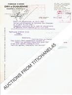 Lettre 1937 LIEGE - ORY & DUQUENNE - DUQUENNE & KRAMER Sucesseurs -  FABRIQUE D'ARMES - Non Classificati