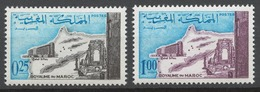 Morocco 1967 Mi# 582-83** OPENING OF THE RABAT HILTON HOTEL - Maroc (1956-...)