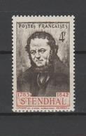 FRANCE / 1942 / Y&T N° 550 ** : Stendhal (Henri Beyle) X 1 - Unused Stamps