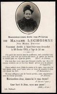 Faire-Part De Décès & Photo Madame Lechoisne Née Maria Provost Décédée à St-Sénier-Sous-Avranches Le 10.021915 à 54 Ans - Todesanzeige