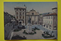Cartolina Ascoli Piceno Piazza Roma E Monumento Ai Caduti 1958 - Ascoli Piceno