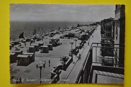Cartolina Porto S. Giorgio Lungomare E Spiaggia  1960 - Ascoli Piceno