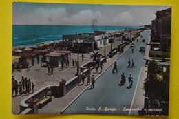 Cartolina Porto S. Giorgio Lungomare E Spiaggia  1957 - Ascoli Piceno