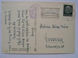 1939 DR Postkarte Pmk Staatsakt Tannenberg. Schloss Sanssouci - Briefe U. Dokumente