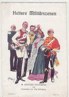 Heitere Militärszenen - Umschlag - Sign. Schönpflug - Stempel Des Verlages      (A-104-160819) - Schoenpflug, Fritz