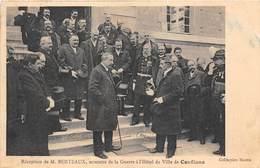 78-CONFLANS- RECEPTION DE M. BERTEAUX MINISTRE DE LA GUERRE A L'HÔTEL DE VILLE - Conflans Saint Honorine