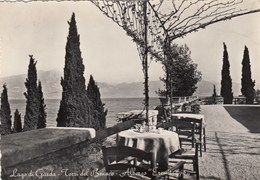 TORRI DEL BENACO-VERONA-LAGO DI GARDA-ALBERGO=ERMITAGGIO=-CARTOLINA VERA FOTOGRAFIA VIAGGIATA-1952-1958 - Verona
