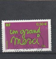France Oblitéré  2004   N°  3637    Timbre Pour Remerciement - Used Stamps