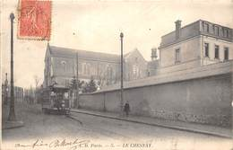 78-LE-CHESNAY- UNE RUE TRAMWAY - Le Chesnay