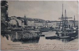 SAN SEBASTIAN - ENTRADA DEL PUERTO - CPA 1903 - Guipúzcoa (San Sebastián)