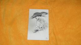 CARTE POSTALE ANCIENNE CIRCULEE DATE ?../ FEMME CHAPEAU FLEURS ILLUSTRATEUR ?...3827/2..1 - 1900-1949