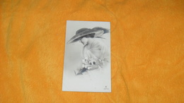 CARTE POSTALE ANCIENNE CIRCULEE DATE ?../ FEMME CHAPEAU FLEURS ILLUSTRATEUR ?...3827/2..1 - Illustratoren & Fotografen