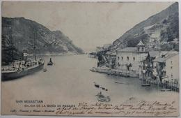 SAN SEBASTIAN - SALIDA DE LA BAHIA DE PASAJES - CPA 1903 - Guipúzcoa (San Sebastián)