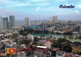 1 AK Sri Lanka * Blick Auf Colombo - Die Ehemalige Hauptstadt Von Sri Lanka - Luftbildaufnahme * - Sri Lanka (Ceylon)