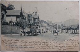 SAN SEBASTIAN - HOTELES DEL PASEO DE LA CONCHA - CPA 1904 - Guipúzcoa (San Sebastián)