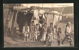 AK Perim, Native Boys, Jungs Vor Hütte - Jemen