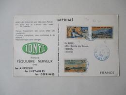 COTE Fse DES SOMALIES DJIBOUTI 9-2 1954 3 TIMBRES 50c,1F50,3F IMPRIME - Lettres & Documents