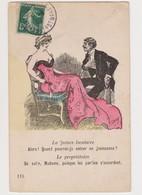 Carte Fantaisie Signée X.Sager / Couple : La Future Locataire ; Le Propriétaire - Sager, Xavier