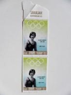 Rare! Double Perforation! Sharjah Uae Olympic Games Tokio 1964 Winners Dawn Fraser Australia Swimming - Sharjah