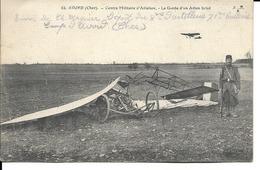 18 - Avord - Centre Militaire D'Aviation - La Garde D'un Avion Brisé - Avord