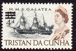 Tristan Da Cunha 1967 4d On 4½d Definitive Surcharge, MNH, SG 108 - Tristan Da Cunha