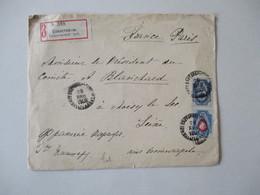 ENVELOPPE RECOMMANDEE 1903 TIMBRES CACHET NOISY LE SEC 16 FEVR 03 SEINE - 1857-1916 Imperium