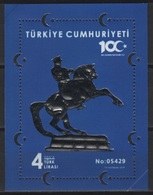 Turkey (2018) - Block -  /  Horses - Chevaux - Caballos - Pferde - UNUSUAL Silver - Paarden
