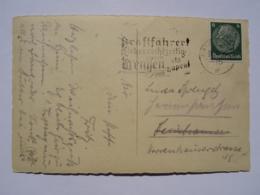 1936 DR Postkarte Pmk Kraftfahrer, Lieber Rechtzeitig Bremsen Als Hupen - Germania