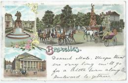 Brussel - Bruxelles - Monument D'Egmont Et De Horn - Boulevard Du Régent - Editeurs G. Blümlein & Co No 687 - Monuments, édifices