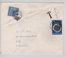 SJ166/ Grève Anglaise Vignette 10p Special Courrier Dover-Ostende Griffe 7/7 TP1569 Touring Club C.Gent 3/3/71 > Delft - Covers & Documents