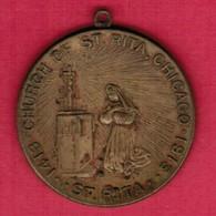 U.S.A.   1913 CHURCH Of ST.RITA MEDAL---CHICAGO (T39) - USA