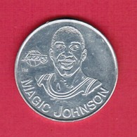 U.S.A.   1991 STARTING LINEUP---MAGIC JOHNSON COIN (T40) - Other