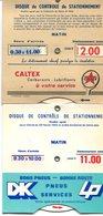 Autres Collections-lot De 3 Disques De Contôle De Stationnement :Michelin,Caltex,DK Pneus-TBE - KFZ