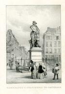 """Rembrandt `s Standbeeld Te Amsterdam"" Heliogravur Um 1900 - Stiche & Gravuren"