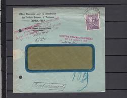 Timbre Poortman    Sur  Enveloppe  Contre Remboursement  1942 - 1936-1951 Poortman