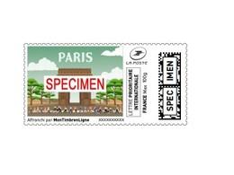 """Montimbrenligne SPECIMEN Lettre Prioritaire Internationale 100 Gr """"Paris Arc De Triomphe étoile"""" - Monuments"""