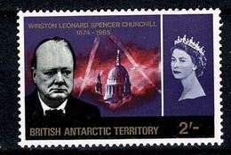 British Antarctic Territory, 1966 Mi 19** MNH Winston Churchill (2 Scans) - Territoire Antarctique Britannique  (BAT)