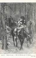 Art Peinture Peintre A. Lalauze Salon 1905 Tableau Mort De Marceau , Cavalier Cavalerie Soldat Militaire - Pintura & Cuadros