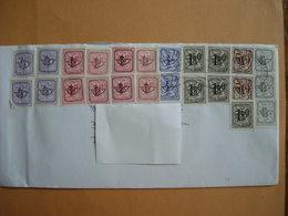 Belgique: Préoblitérés  Chiffre Sur Lion :timbres Préoblitérés  Sur Lettre Envoyée De Grimbergen .; - Typo Precancels 1951-80 (Figure On Lion)