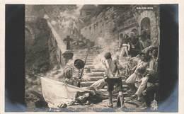 Illustrateur Tuck Raphael Peintre J. Duval Salon 1905 Tableau Les Derniers Chouans Devant Sainte Barbe Au Faouet - Tuck, Raphael