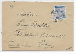 1953 - TAXE GERBE AU DOS D'ENVELOPPE De LEIPZIG (DDR) => PARIS POSTE RESTANTE - Marcophilie (Lettres)