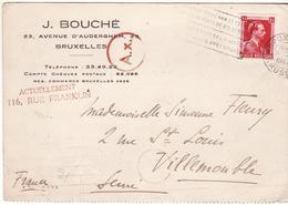 CARTE BELGIQUE GUERRE 40 45 VERS FRANCE CENSURE OKW MARQUE MANUELLE AX - Lettres