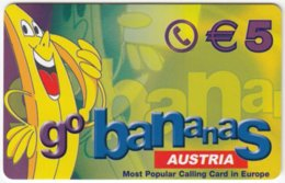 AUSTRIA F-929 Prepaid  - Cartoon, Fruit, Banana - MINT - Oesterreich