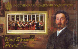 Russia 2019 - 175th Anniversary Birth Art Paintings Artist Famous People Ilya Repin Celebrations S/S Stamp MNH - Art