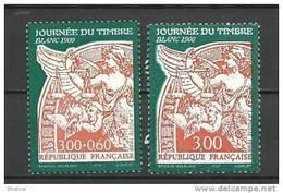 "FR YT 3135 & 3136 "" La Journée Du Timbre "" 1998 Neuf** - France"