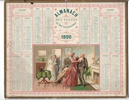 """Almanach Des Postes Et Télégraphes  1890 """"avant Le Mariage"""" Petits Défauts Bien Visibles Sur Scan   Avec Carte Deux Sevr - Calendriers"""