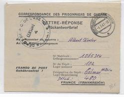 1947 - PRISONNIERS De GUERRE - LETTRE REPONSE De STUTTGART => DEPOT De COLMAR (HAUT-RHIN) Avec CENSURE - Marcophilie (Lettres)